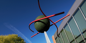 Jim West Sculpture Becomes Public Installation at Leading Science and Innovation Center
