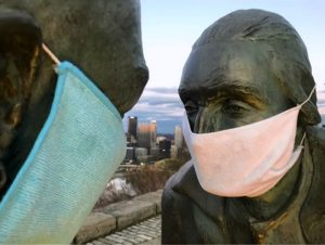 Something Good: Pittsburgh Statues Don Face Masks